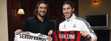 Paolo Maldini y Sergio Ramos