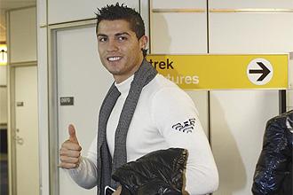 Cristiano Ronaldo pasando una prueba en el Hospital AMC de Ámsterdam
