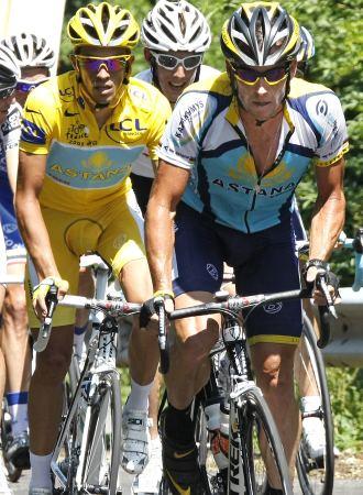 Armstrong y Contador tendrán en 2010 otro motivo más para enfrentarse: las bicicletas