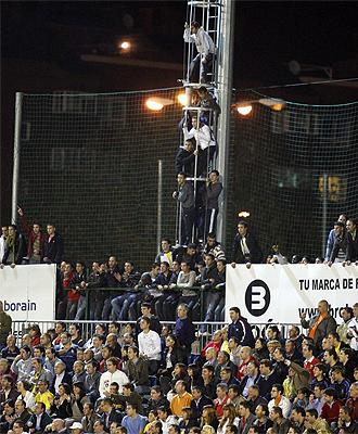 Imagen del parte del estadio de Santo Domingo en el partido ante el Alcorcón