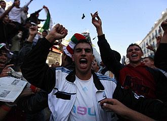 Hinchas de Argelia muestran su exaltación