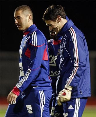 Benzema podría tener su oportunidad en el once de Domenech