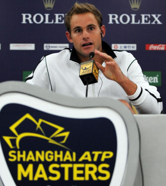 Andy Roddick durante el Masters 1.000 de Shanghai.