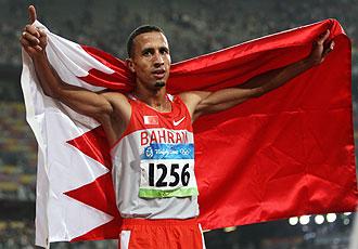 Ramzi celebra su triunfo en los Juegos de Pekín