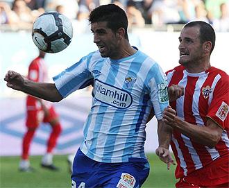 Juanito, durante un partido con el Almería