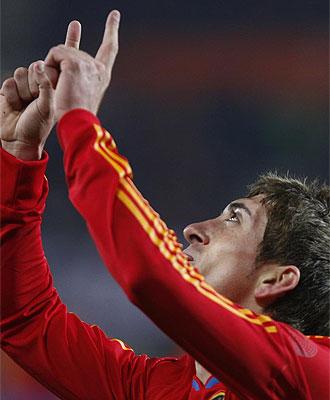 Pablo Hern�ndez marc� su primer gol con la selecci�n espa�ola