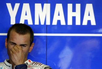 Jorge Lorenzo, en el 'box' de Yamaha.