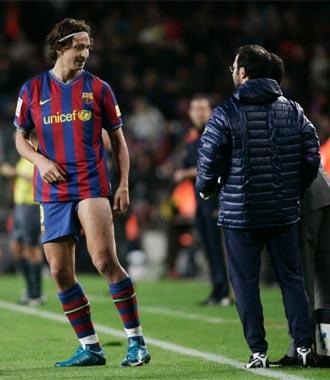A Ibrahimovic ya se le diagnosticó una elongación semitendinosa en el muslo izquierdo tras la victoria ante el Mallorca