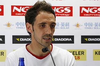 Juanfran, en una imagen de archivo, durante una rueda de prensa.