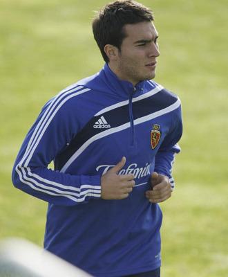 El serbio Ivan Obradovic durante un entrenamiento con el Zaragoza