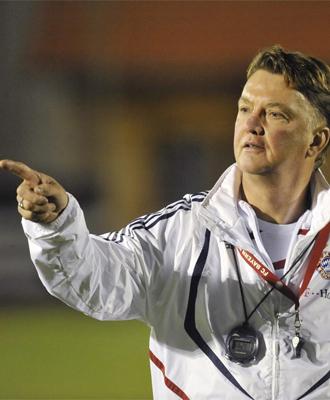 Van Gaal, durante un entrenamiento del Bayern.