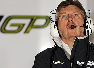 Brawn, durante un Gran Premio