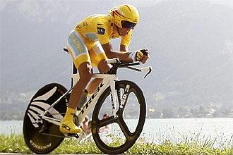 Alberto Contador, durante una etapa contrarreloj del pasado Tour de Francia.