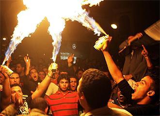 Manifestación en El Cairo.