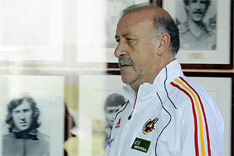 Vicente del Bosque, durante una concentración de la Roja en la Ciudad del Fútbol.