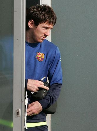 Messi, en la Ciudad Deportiva del Barcelona.