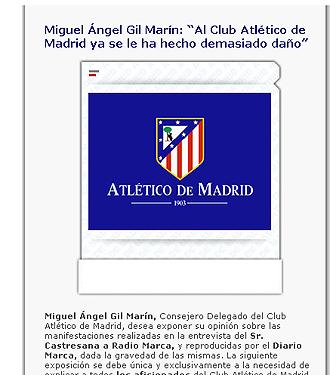 Comunicado oficial del Atlético de Madrid