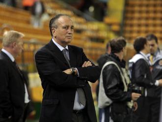 Roig, antes de un partido del Villarreal en El Madrigal