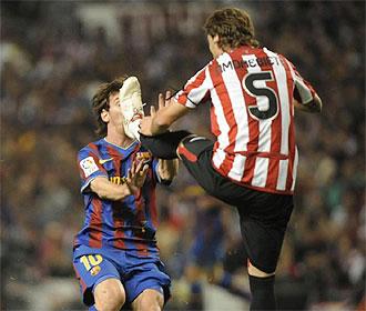 Esta acci�n entre Amorebieta y Messi ha dado mucho que hablar.