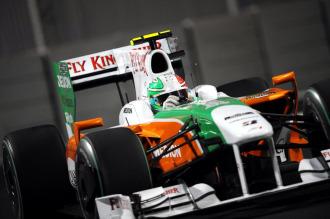 'Tonio' Liuzzi, a los mandos de su Force India en GP de Abu Dhabi.