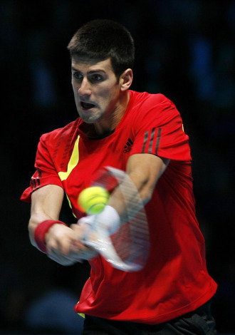 Novak Djokovic, durante un lance del partido ante Rafa Nadal.