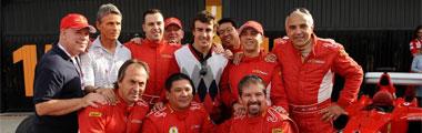 Alonso, con el equipo Ferrari en Cheste