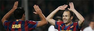 Andrés Iniesta y Xavi Hernández