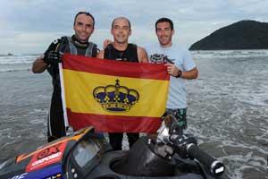 De izquierda a derecha, Marco Antonio Vivanco, Amador Ferrer y Juanma Sáez