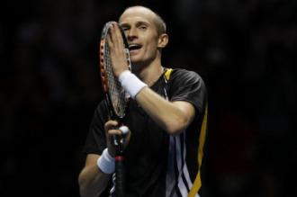 Nicolai Davydenko tras ganar la final del Masters.
