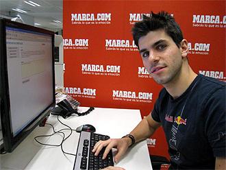 Jaime Alguersuari, en su visita a MARCA.com.