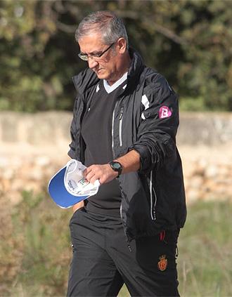 Gregorio Manzano, tras un entrenamiento