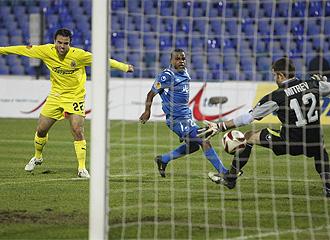 Rossi, en el momento de marcar el gol