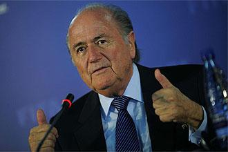Blatter, en una rueda de prensa