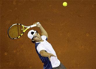Nadal, en un entrenamiento de la Copa Davis.