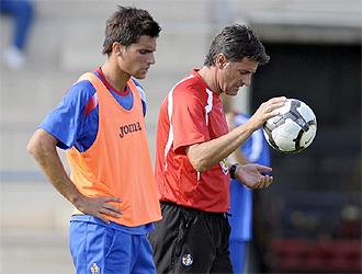 Adrián y Míchel, su padre y entrenador