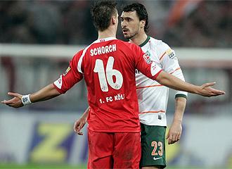 Partido entre el Colonia y el Werder Bremen.