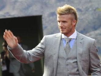 David Beckham, en Sudáfrica.