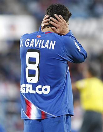 Gavilán, durante un partido con el Getafe