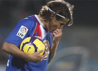 Cortés, durante un partido.