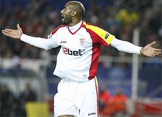 Kanout� celebra el gol