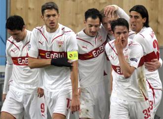 Los jugadores del Stuttgart