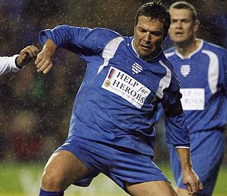 Lothar Matthaus durante un partido benéfico
