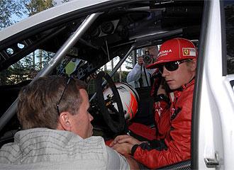 Kimi, en el Rally de Finlandia de este a�o.