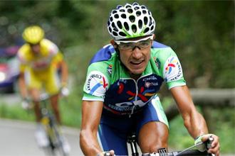 Eladio Jiménez en una edición de la Vuelta a España.