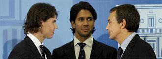 Nadal, Verdasco y Zapatero
