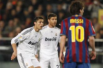 Cristiano y Messi, en el Barcelona-Real Madrid