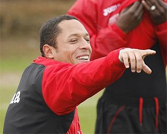 Adriano, en un entrenamiento