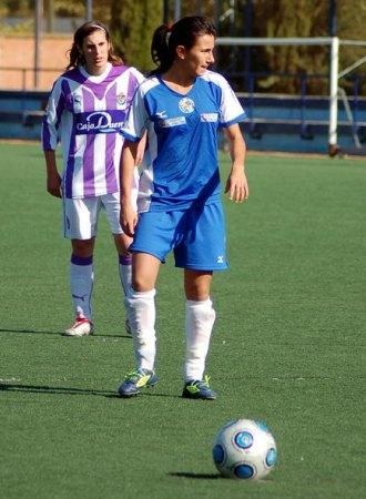 Marieta, del Prainsa, durante un partido esta temporada ante el Valladolid