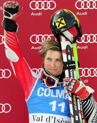 Hirscher, campeón del eslalon gigante de Val d'Isere.