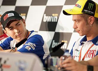 Lorenzo y Rossi, en rueda de prensa